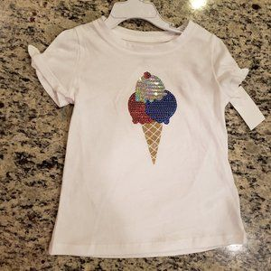 NEW Girl Sequined Top in Size 4T